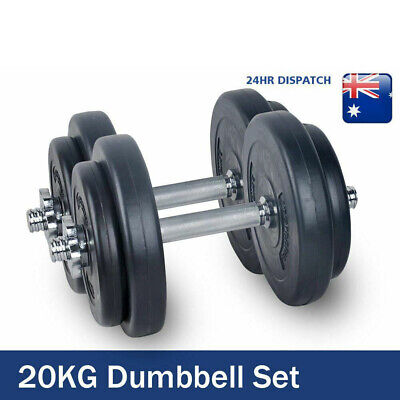 20KG-Dumbbell Set Weight Dumbbells Plates Home Gym Fitness
