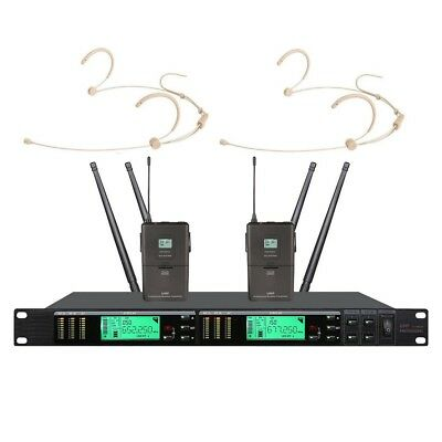 Headset Microphone wireless system True Diversity UHF Wireless microphones Pro