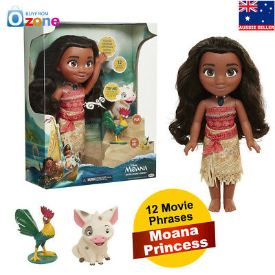 Moana & Friends Singing Action Figure Doll Light & Movie Song Kids Toy Gift