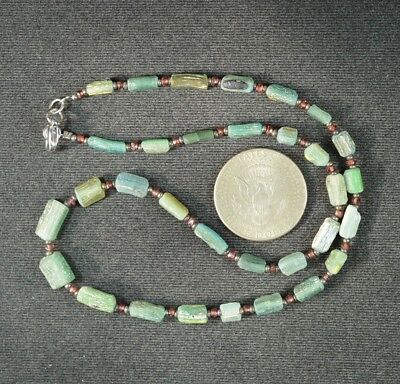 Ancient Roman Glass Beads 1 Medium Strand 100 -200 Bc 0969
