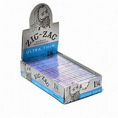 ZIG ZAG Ultra Thin 1 1/4 Size of 24 Booklet in a Box Original Made in France