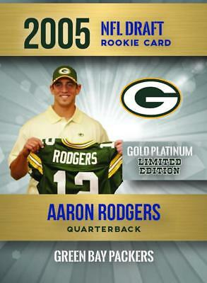 AaRON RODGERS 2005 NFL DRAFT GOLD PLATINUM ROOKIE CARD ONLY 2,000 MADE PACKERS!