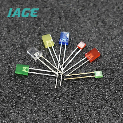 LED Diodes 2x3x4mm 2x5x7mm Water Clear Diffused Colours Rectangle Square