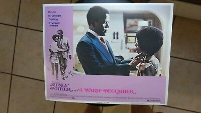 A Warm December 1973 #2 11X14 Lobby Card Sidney Poitier Esther Anderson Vintage