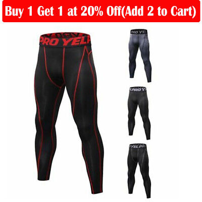 US Men Compression Base Layer Pants Quick Dry Sport Leggings Running Gym Workout