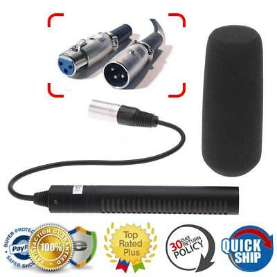 Professional Microphone Mic 3- XLR for Sony Panasonic Video SLR Camera Camcorder