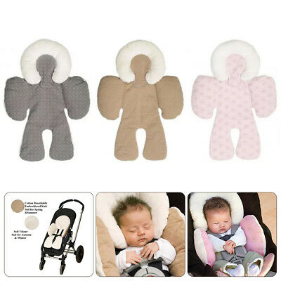 Newborn Baby Car Seat Stroller Cushion Pad Liner Mat Body Head Support Pillow