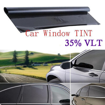 Auto Car Window VLT 35% Tint Film Sunshade 50cm*1M House Roll Smoothful Accessor