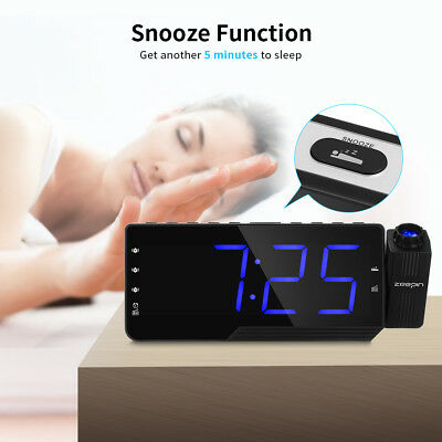 ZEEPIN PRA -001 Digital Projector LED Clock Radio Alarm Snooze Timer Temperature