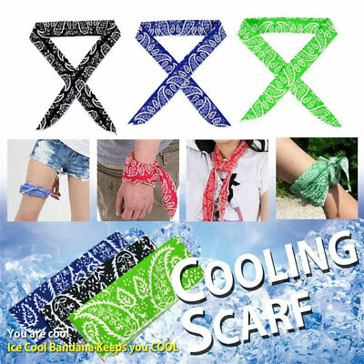 KD_ Body Ice Cooling Bandana Scarf Wrap Headband Outdoor Sport Neck Cooler Apt