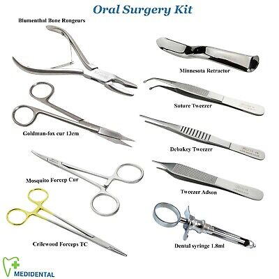 Mosquito Forceps OS Rongeurs Suture Cawood Rétracteur Chirurgical Kit D'Outils