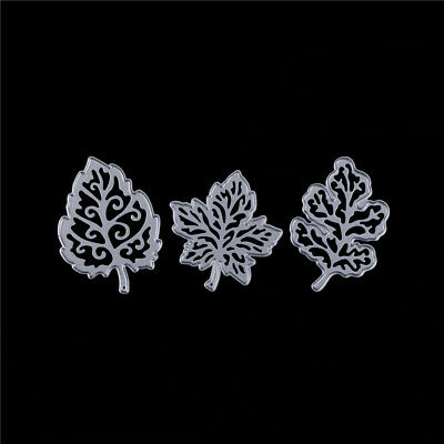 3x Leaves Metal Cutting Dies Stencils for DIY Paper Cards Scrapbooking Decor ZB