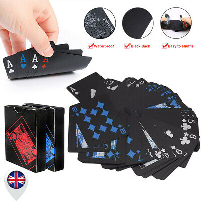 Waterproof Plastic Playing Cards Deck of Poker Cards Family Party Table Game UK