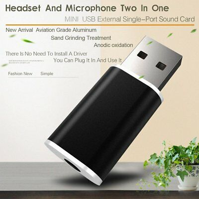 USB External Drive 1 Hole Sound Card To Earphone Adapter Audio Sound Card DN
