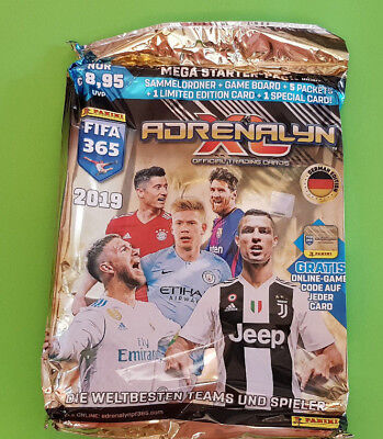 Panini Adrenalyn XL FIFA 365 2019 Starterset inkl. 5 Booster und Limited Edition
