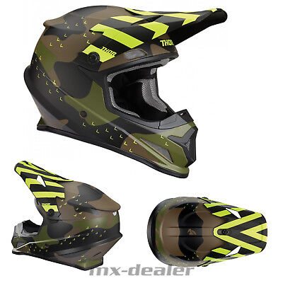 2019 Thor MX Sector Mosser Camo grün Helm Crosshelm MX Motocross Cross Quad