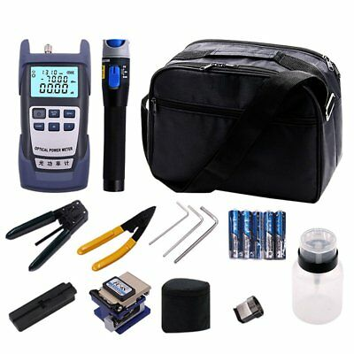 Fiber Optic FTTH Tool Kit & FC-6S Cutter Cleaver Optical Power Meter Visual SM