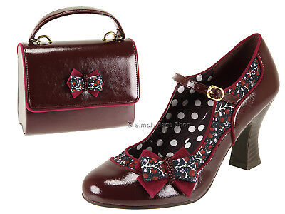 Ruby Shoo Ladies Camilla High Heel Mary Jane Shoes - Add Matching Bag Casablanca