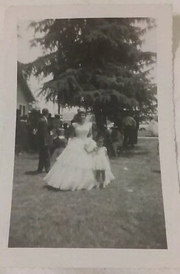 Vintage Old 1930's Photo of a Portuguese Woman in Wedding Dress Fresno County CA