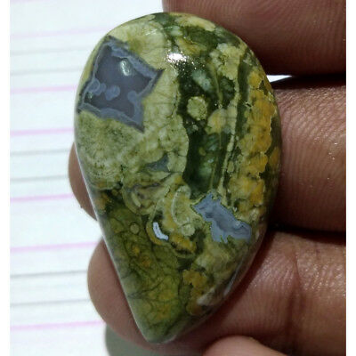 41 Cts. Natural INCREDIBLE RAINFOREST RHYOLITE Fancy Pendant Size Loose Gemstone