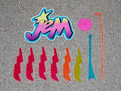 1987 Hasbro Jem & the Holograms Lot of Star Stage Accessories