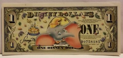 2005 D $1 Dumbo with Barcode Disney Dollar