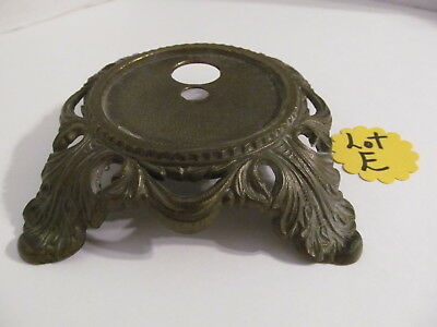 Vtg Ornate Cast Brass Lamp Base F65  (Lot E)