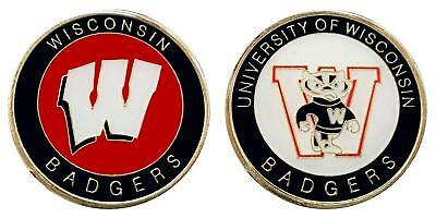 "University of Wisconsin ""Badgers"" Collectible Challenge Coin - Logo Poker"