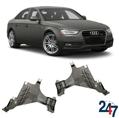 NEW AUDI A6 C6 04-11 FRONT BUMPER GUIDE ON FENDER MOUNT BRACKET PAIR LEFT+RIGHT