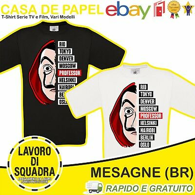 T-Shirt - CASA DE PAPEL - La Casa Di Carta Personaggi Serie Tv Professore Film