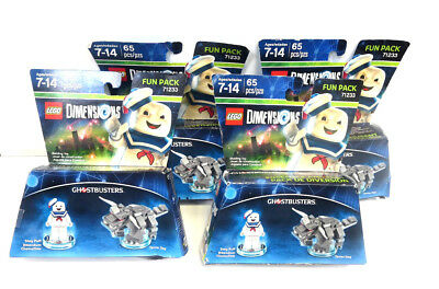 Lot Of 4 Lego Dimensions 71233 Fun Pack Ghostbusters