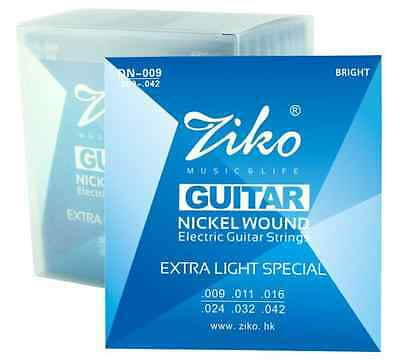 High Quality Ziko Nickel Wound Electric Guitar Strings 2 x Gauge Available 09-10