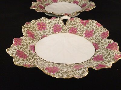 Pair of Rare Antique Haviland Limoges Candy Dishes/ Plates, Late 19th Century