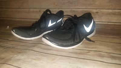 Nike 5.0 GS Kids Running Shoes Boys Girls Black & White 725104-001 Size 5 Youth