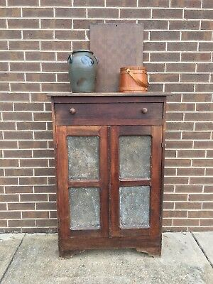 Early 1900s Oak Pie Safe - 4 Punched Tin - Antique - Country Classic