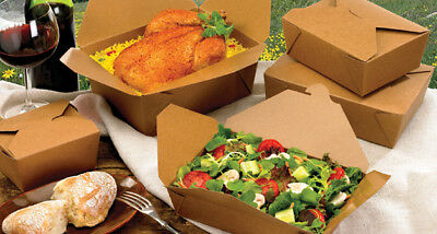 Kraft Food Box Deli Brown Greaseproof Lunch Noodles Salad Takeaway Various Sizes