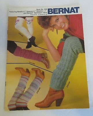 LEG WARMERS BY BERNAT~CHILDREN TO ADULT #506 Knitting