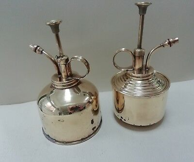Brass antique fully working Oil Cans X2