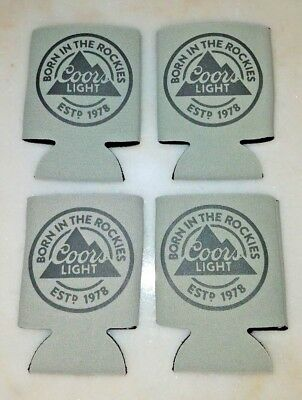 Coors Light - Born In The Rockies- Can Koozie Coozie Insulator Holder -  4 Pack