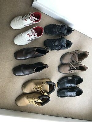 Job Lot Of 6 Pairs Shoes Boots Trainers Hitec Barrats Suede Size 8 Kappa 7.5