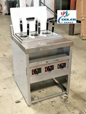 NEW 6 Basket Noodle Pasta Cooker Commercial Stainless Steel Gas Propane Use PN7