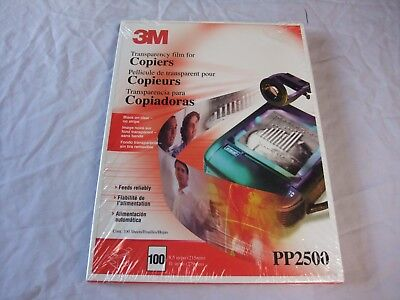 3M PP2500 Transparency Film for Copiers 100 per box --NIP