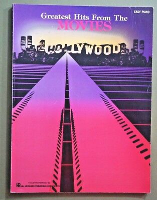 Greatest hits easy piano easy piano sheet music songbook barry greatest hits from the movies hollywood easy piano songbook music book 1986 80s fandeluxe Images