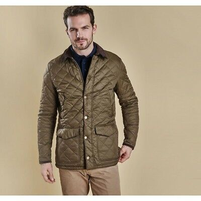 Barbour Men's Canterbury Quilted Jacket, New With Tags, Olive Green, Size Small