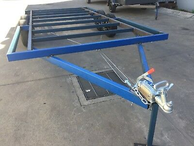 NEW  2T Trailer Tandem axle 20X8 DIY caravan enclosed tiny house frame chassis