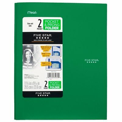 Five Star 2 Pocket Folder with Prong Fasteners, Stay-Put Folders, Folder with...