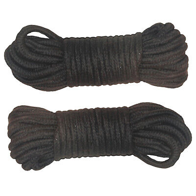 2 PACK Black Soft Rope for Bondage/Restraint/Japanese Shibari/BDSM/Adult Play