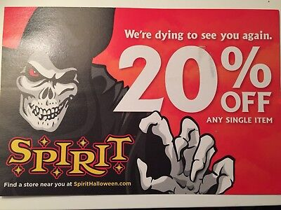 spirit halloween 20 off single item coupon