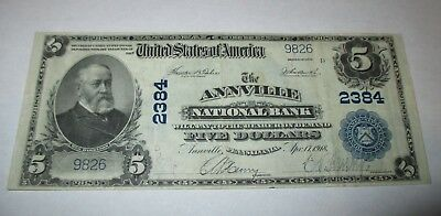 $5 1902 Annville Pennsylvania PA National Currency Bank Note Bill! Ch. #2384 VF+