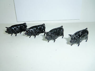 England Lead Pig Figures - Lot of Four